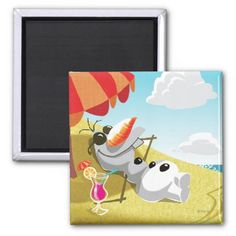 Olaf Chillin in the Sunshine Refrigerator Magnets.  Kids LOVE fridge magnets.  This would be a cute Frozen stocking stuffer gift idea so they can hang their mini masterpieces of artwork up for everyone to see.  Click customize it to personalize it with a name.