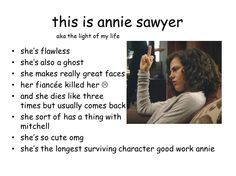 annie is so BA and awesome #beinghuman