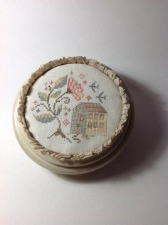 Hand stitched cross stitched Down In The by TheOldNeedleShop