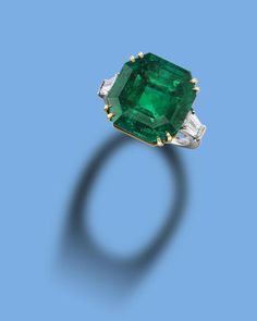 An important emerald and diamond ring
