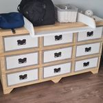 Wood Creations, Dresser, Creative, Furniture, Home Decor, Powder Room, Decoration Home, Room Decor, Stained Dresser