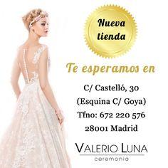 Nueva tienda de @ValerioLuna_GHN en #Madrid #ValerioLuna #Vestidosdenovia #Fiesta #Madrinas #MadeinSpain