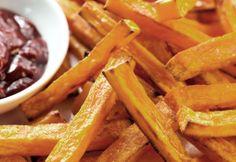 Süßkartoffel Pommes habe ich noch nie gegessen! :o