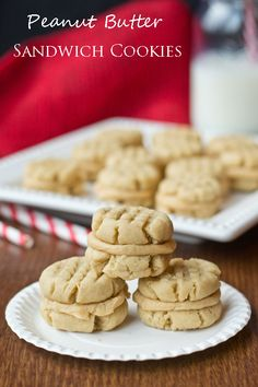Peanut Butter Sandwich Cookies on MyRecipeMagic.com #cookies #peanutbutter #sandwich