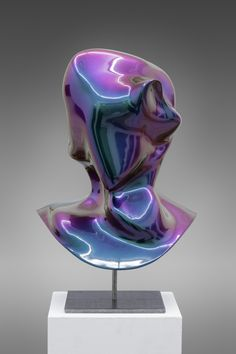 Jon Rafman, New Age Demanded (Furturismo Red to Green), 2013 3D Polyamide print, auto-body lacker 45 x 30 x 34 cm