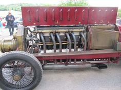 1905 Fiat Racer 16.5 litre Isotta Fraschini Aero engine at Sherborne Castle 2015 Classic Car Show