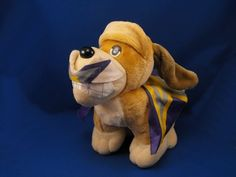 New product '1990 Tonka Gold Tan Pooch Patrol HERO Poseable Standing Dog' added to Dirty Butter Plush Animal Shoppe! - $12.00 - 1990 Tonka Plush 10 inch Long by 9 inch High Standing Pooch Patrol Dog - Brown Velour Dog - Bendable Brown Ears, Tail - …