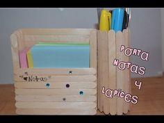 Diy: porta notas y organizador de lapices dos en uno - YouTube