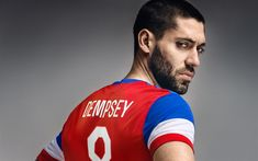 Download wallpapers Clint Dempsey, USA national soccer team, American football player, portrait, 4k, USA, Seattle Sounders FC
