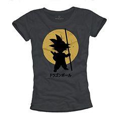 Camiseta Son Goku Mujer - Dragon Ball - Gris S #regalo #arte #geek #camiseta