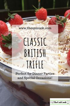 Easy Trifle   Classic British Dessert - TheUniCook Festive-Baking Trifle Desserts, Dessert Recipes, Traditional Trifle Recipe, Christmas Trifle, British Desserts, Truffle Recipe, Home Baking, Kid Friendly Meals, Yummy Treats