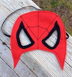SpiderMan Inspired mask Pretend Play Superhero by littleshepsters, $8.00