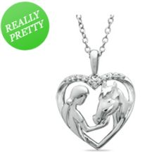I've tagged a product on Zales: ASPCA® Tender Voices™ Diamond Accent Girl with Horse Pendant in Sterling Silver