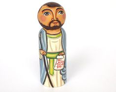 St Francis peg doll Saint Francis of Assisi peg by UnderAngelWings