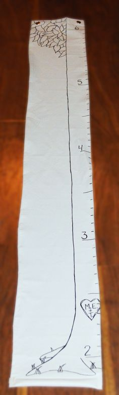 Tree Growth Chart, inspired by A Giving Tree
