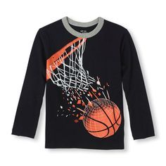 Long Sleeve Basketball Hoop Graphic Tee | The Children's Place