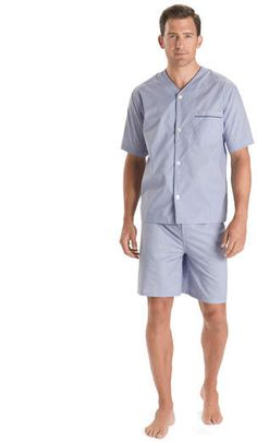 691a049711 Brooks Brothers Wrinkle-Resistant Short Pajamas Mode Masculine Printemps,  Pyjama Courts, Frères Brooks