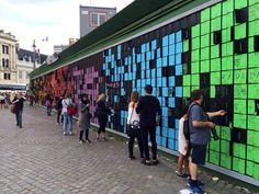 Счастливая стена (happy wall) - Picture of Copenhagen King's Square - Tripadvisor Landscape Diagram, Landscape Elements, Exhibition Models, Exhibition Display, Concept Models Architecture, Futuristic Architecture, Interactive Walls, Interactive Design, Hoarding Design