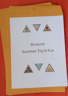 Great GS Blog.  Love the envelope idea for badges we do in the summer.  If girls miss one of our summer meetings, they already have the requirements to earn the same badges!