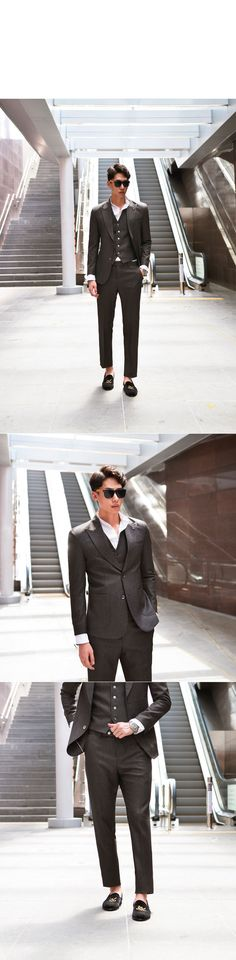 34b46046f Dark Brown Peaked Slim 3pcs-Suit 39 by. Guylook.com The finer details of…