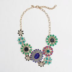 J.Crew Factory - Factory stone bloom necklace