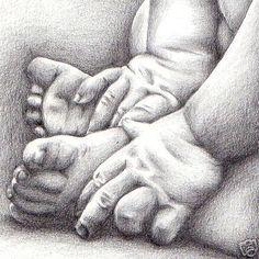 baby pencil portraits - Cerca con Google