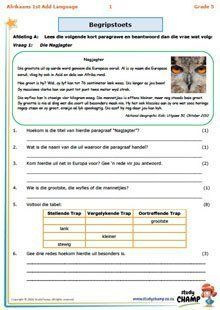 Grade 5 Afrikaans: Begrip - Paragrawe en spotprente Napoleon Hill, Afrikaans Language, 5th Grade Worksheets, Exam Papers, Vocabulary List, Architecture Quotes, Gym Workout Tips, Teaching Aids, Celebrity Travel