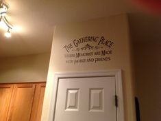 Items similar to Family wall decal The Gathering Place vinyl lettering wall word Quotes decals crafts diy on Etsy Kitchen Wall Quotes, Kitchen Wall Decals, Kitchen Vinyl, Wall Decor For Kitchen, Kitchen Cabinets, Vinyl Quotes, Wall Art Quotes, Quotes Quotes, Family Wall