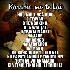 Kai Karakia A traditional blessing for food. For more Māori resources, visit… School Resources, Teacher Resources, Classroom Resources, New Zealand Food And Drink, Maori Songs, Maori Symbols, Reading Bulletin Boards, Maori Designs, Maori Art