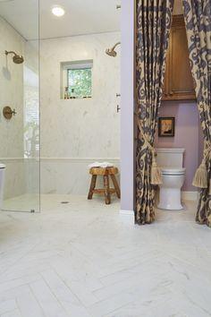 Master bath porcelain marble tiles virtue crossville for Crossville tile virtue