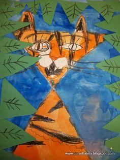 Kindergarten Art Project for Habitat Unit from - we heart art