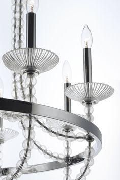 Paris 5-Light Chandelier Maxim Lighting, 5 Light Chandelier, Paris, Glass Ball, Incandescent Bulbs, Polished Nickel, Glass Shades, Clear Glass, Creative Design