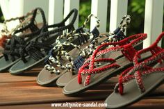 Summer shoes, Playful sandal, Braided sandal, made by hand  From : Nittynice sandal