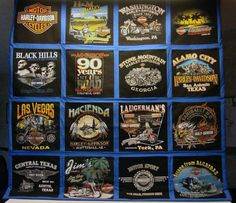 T Shirt Quilts Photo Gallery: Todd's Harley T Shirt Quilt