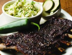 Peppery Ribs From 'The Homesick Texan's Family Table'-pinning this for the peppery barbecue sauce recipe