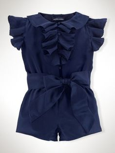 12 months Ruffled Silk Romper - Infant Girls Dresses & Rompers - Savannah must have one of these!! http://RalphLauren.com
