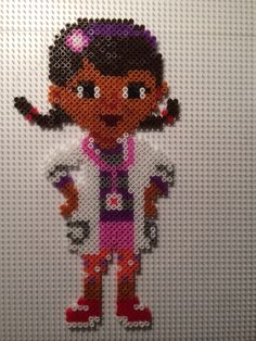 Dottie - Disney Doc McStuffins hama beads by Camilla Merstrand