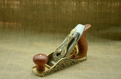 The brass plane.Hand engraving by Mikhail Davydov Metal Engraving Tools, Hand Engraving, Plane Tool, Hand Tools, Planes, Wood Working, Woodworking Projects, Etsy Seller, Brass