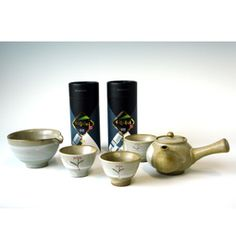 Pure Green Tea Set from Jirisan Mountain for 3 Persons: Ujeon