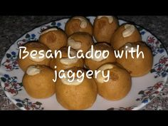 Besan ladoo is famous Indian sweet .generally its made of using sugar ,i have modified this receipe using Jaggery ( for gu. Besan Ladoo Recipe, Jaggery Recipes, Indian Food Recipes, Healthy Recipes, Indian Sweets, Food Festival, Recipe Using, Raisin, How To Stay Healthy
