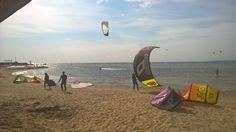 Kitescontrol - Szkoła Kitesurfingu na Helu! -  O tak wiatru pojawiło się dużo ;)