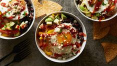 """This fun take on huevos rancheros throws all the best (read """"delicious"""") elements of the classic Mexican dish in a bowl for a fast and fresh breakfast, lunch or dinner."""