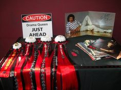 we made mums for event hosts and a few extra for photo props    1983 1984 HIGH SCHOOL REUNION DECOR IDEAS.
