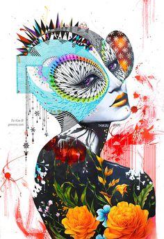 Las psicodélicas y abstractas ilustraciones de Minjae Lee