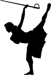 Color Guard Silhouette 2 | Drawing (Edit) board | Pinterest | Clip ...
