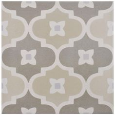"""Found it at Wayfair - Grotta 7.88"""" x 7.88"""" Porcelain Field Tile in Semi-Gloss Beige/Taupe"""