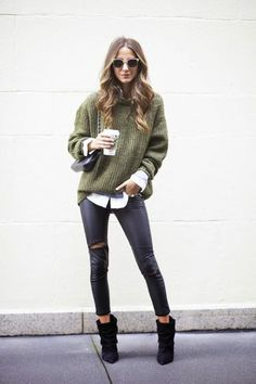 sweaters over button downs #ranitasobanska #fashion #inspirations