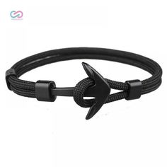 Black Anchor Shaped Bracelet for Men  Price: 8 & FREE Shipping  4 the love of online shopping