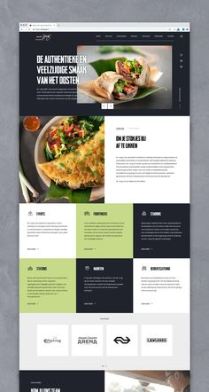 Website Design Layout, Website Design Inspiration, Layout Design, Design Set, Ux Design, Branding Design, Food Web Design, Mobile Web Design, Restaurant Website Design
