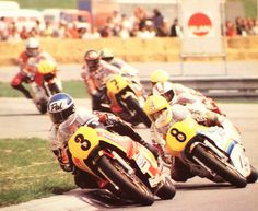 1978 Austrian Grand Prix- Pat Hennen leads Katajama,Cecotto,Roberts,Sheene,and lucchinelli